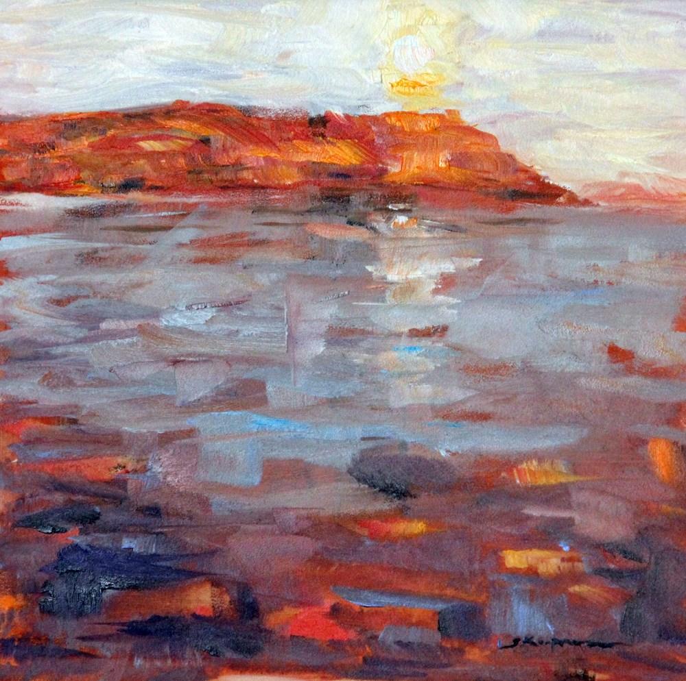 """""""Monhegan Sunrise"""" original fine art by Shelley Koopmann"""