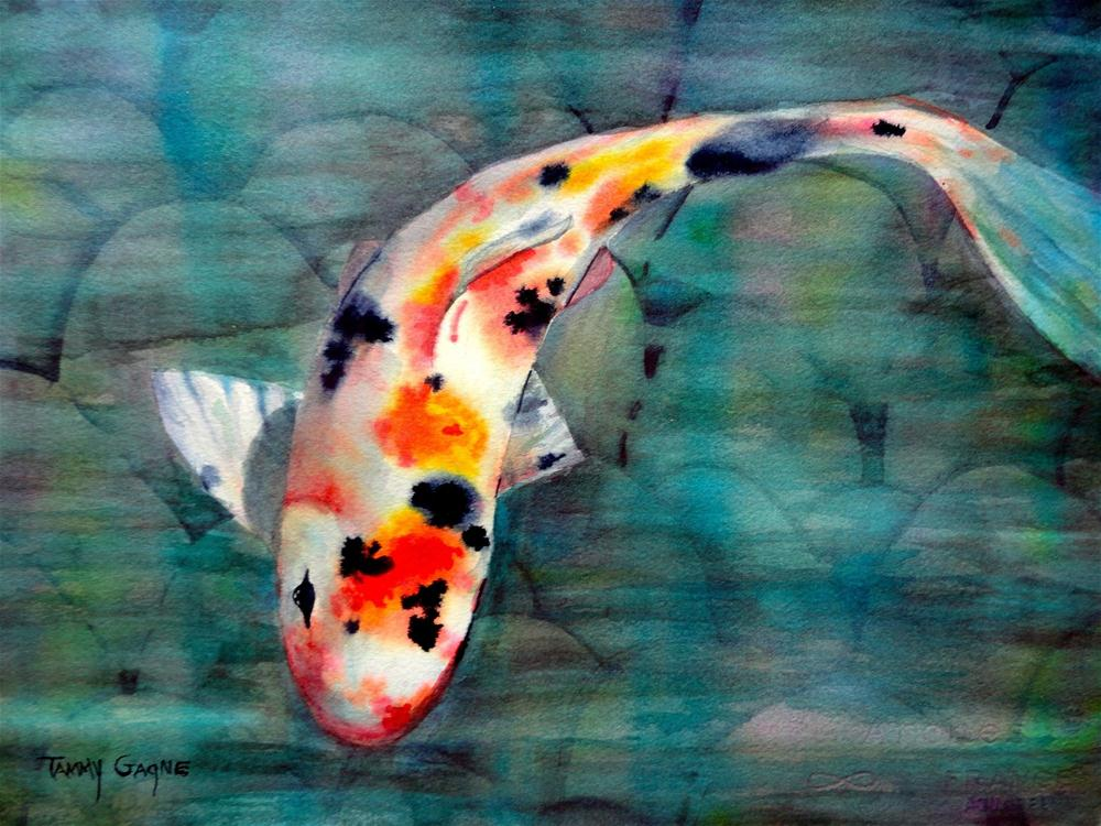 """""""Rainbow Koi"""" original fine art by Tammy Gagne"""