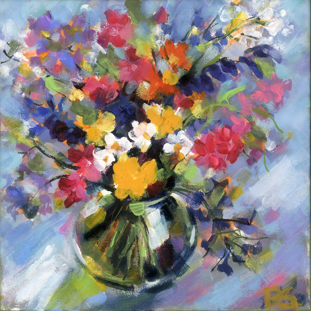 """Little Bitty Floral"" original fine art by Pamela Gatens"