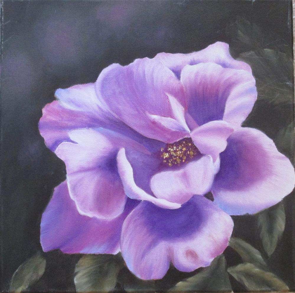 """Tree Peony - Violet Study"" original fine art by Barbara Wagner"