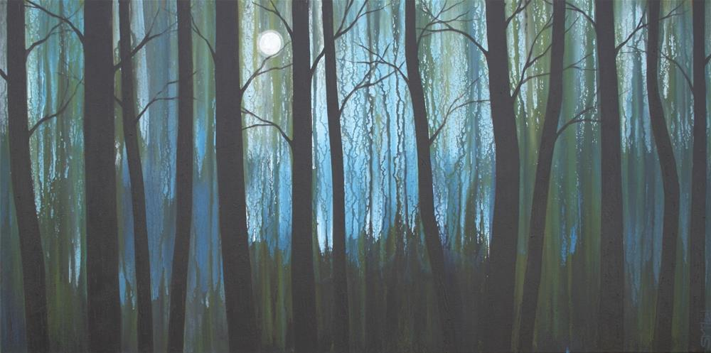 """Midnight in the Woods"" original fine art by Sage Mountain"