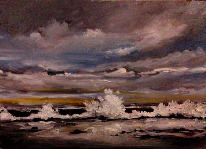 """The Breakers"" original fine art by Bob Kimball"