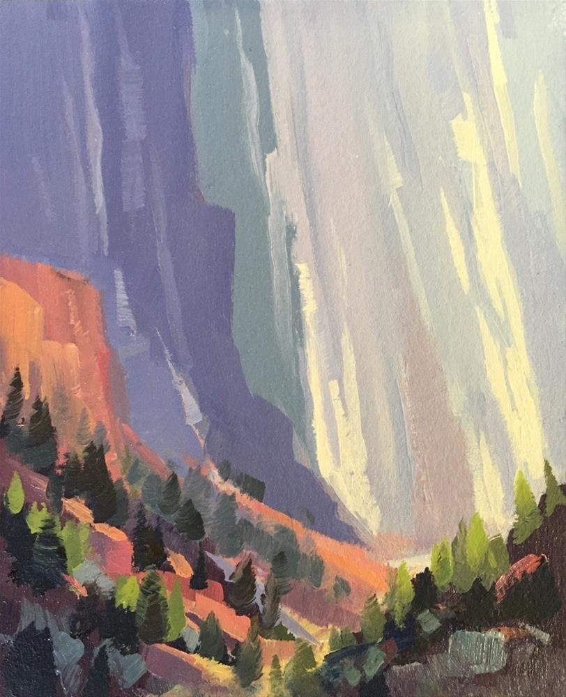 """Kolob Cliffs 1"" original fine art by Mary Jabens"