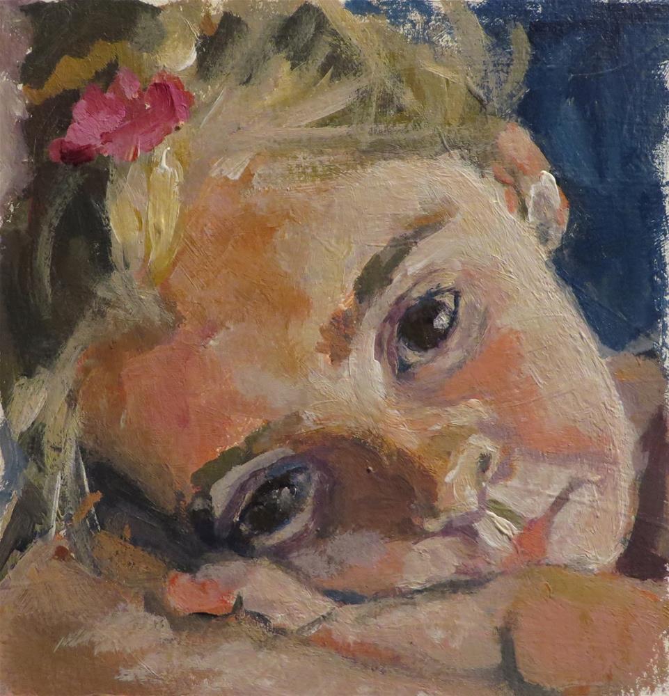 """722 So Tired"" original fine art by Diane Campion"