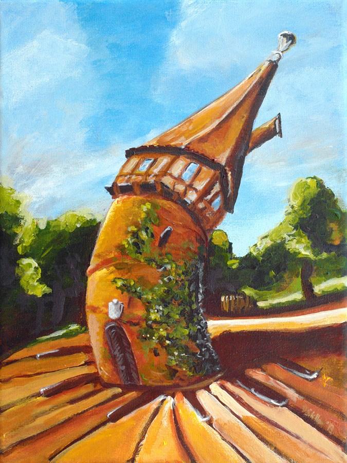 """""""0713 Doehren Tower"""" original fine art by Dietmar Stiller"""