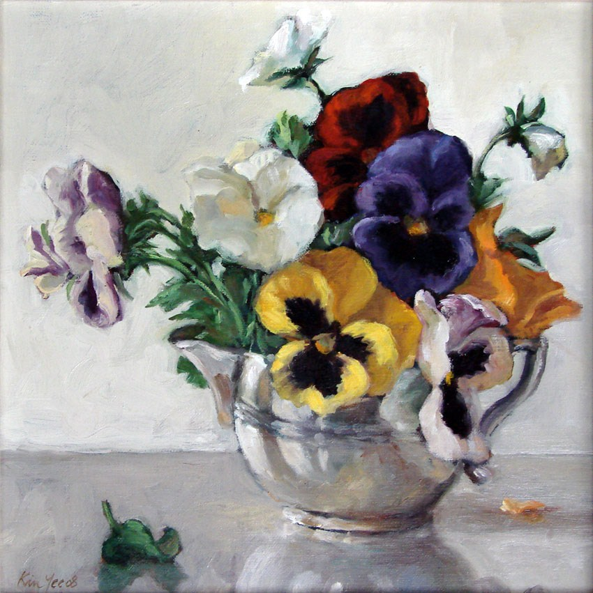 """Pansies, end of season"" original fine art by Myriam Kin-Yee"