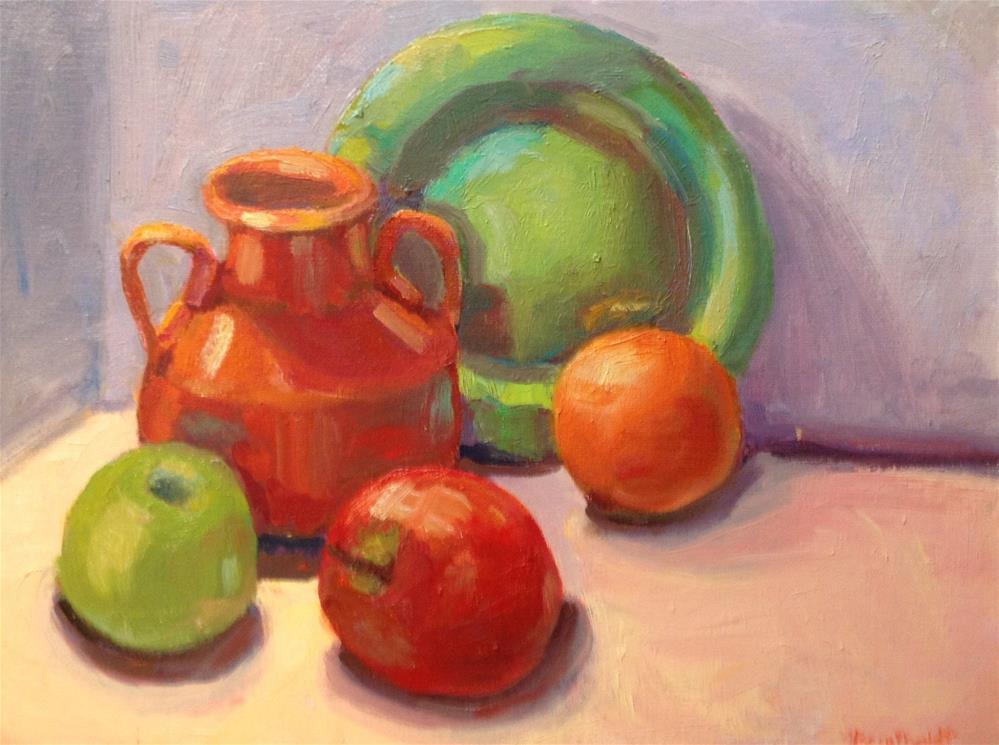 """Green Plate"" original fine art by Marcia Bergtholdt"