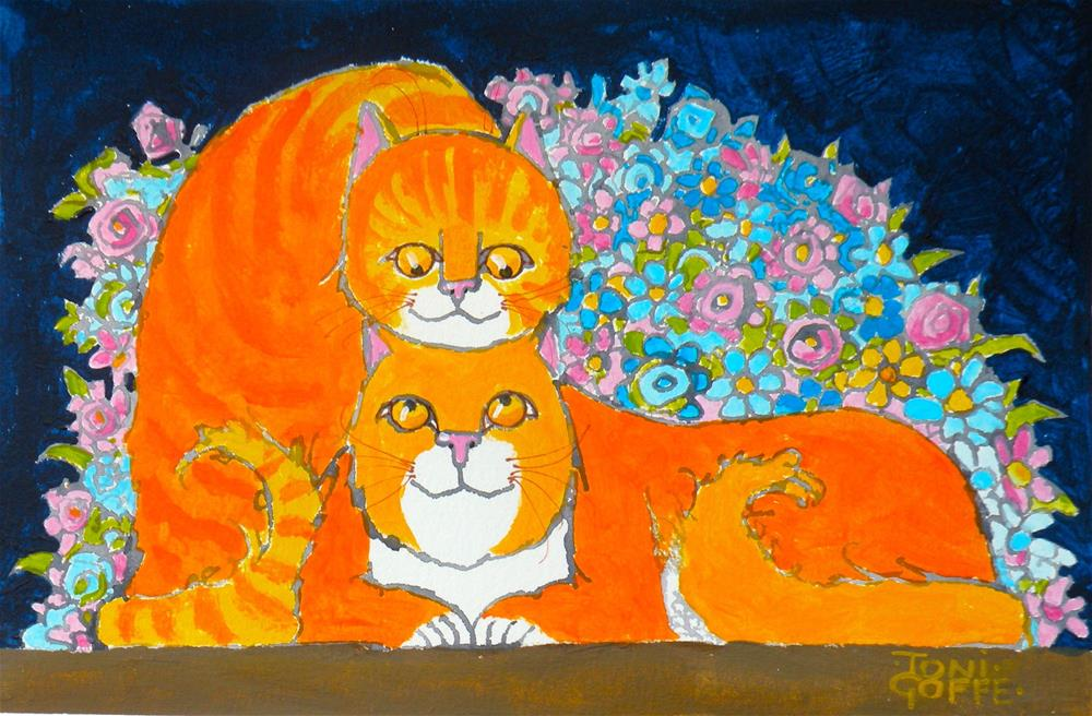 """Ginger Romance"" original fine art by Toni Goffe"