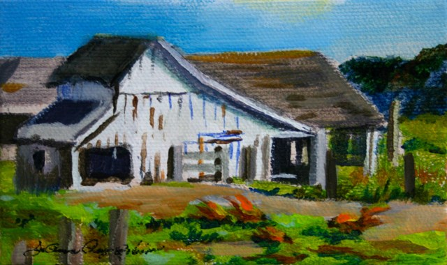 """Crisp, White Barn"" original fine art by JoAnne Perez Robinson"