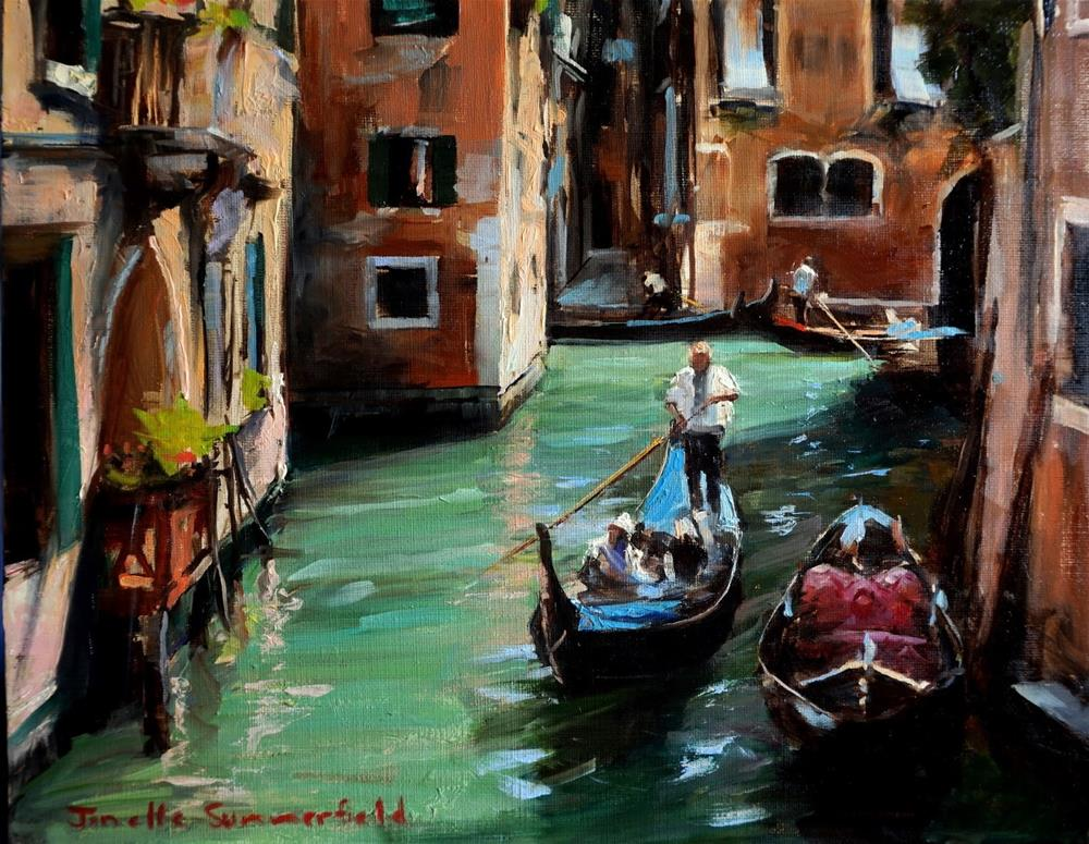 """Lone Gondolier"" original fine art by Jonelle Summerfield"