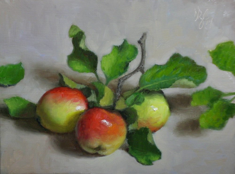 """Crab Apples"" original fine art by Debra Becks Cooper"