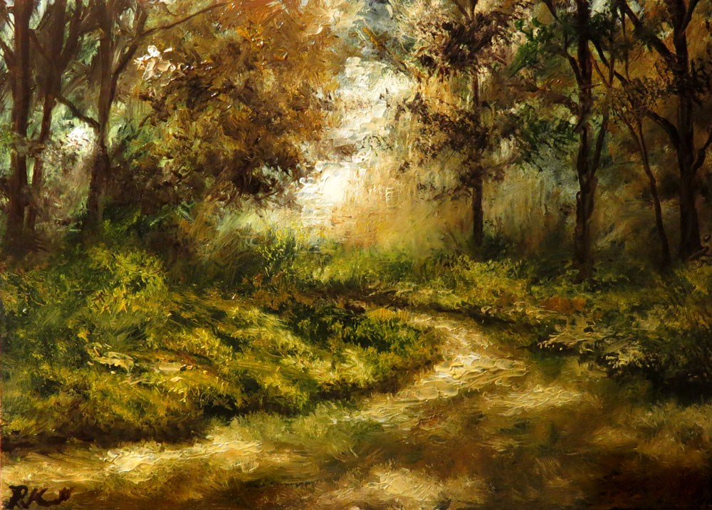 """Mountain Trail"" original fine art by Bob Kimball"