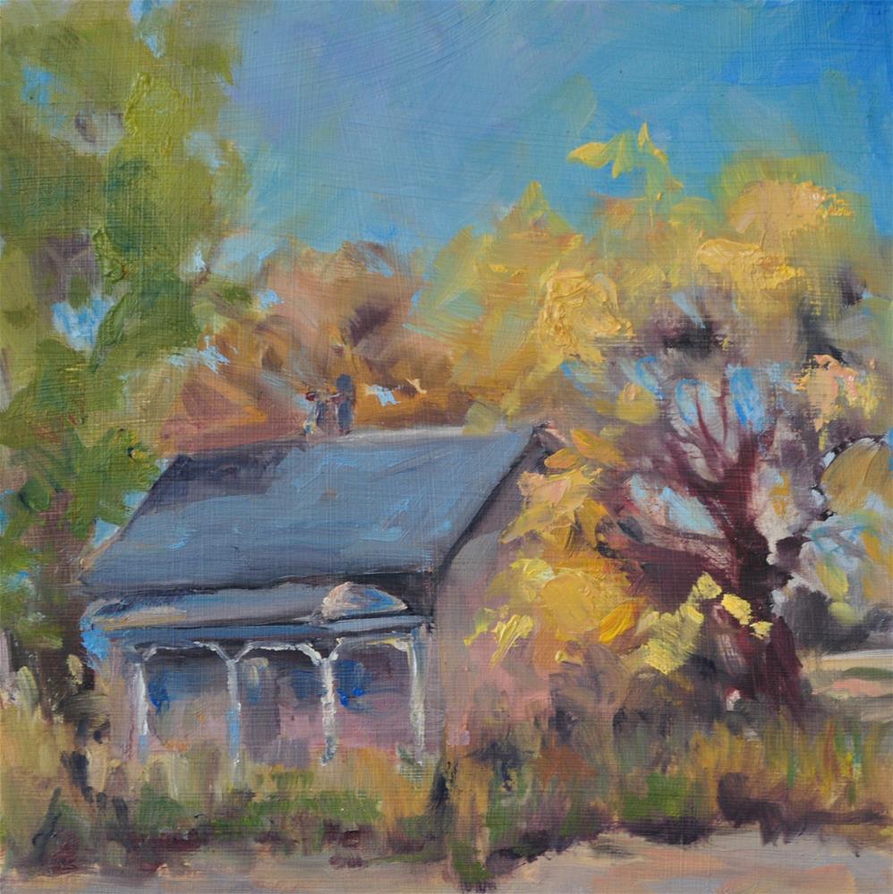 """Left Behind"" original fine art by Catherine Crookston"