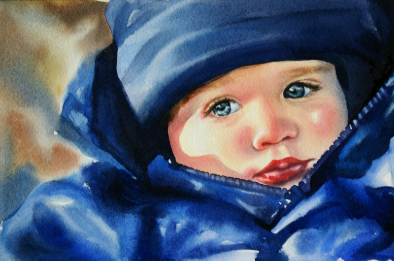 """Bundled Up"" original fine art by Crystal  Cook"
