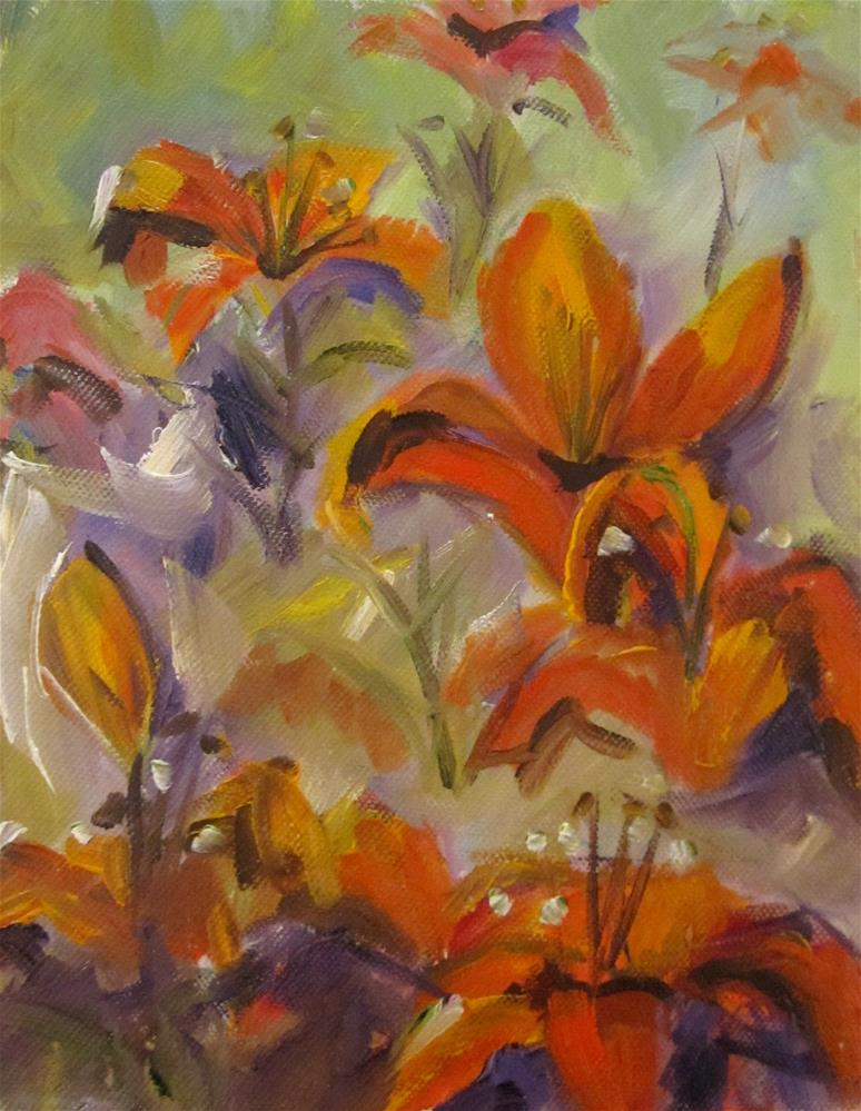 """Day Lilies No. 3"" original fine art by Delilah Smith"