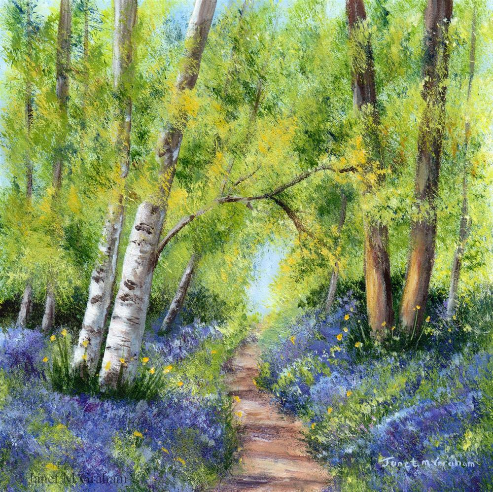 """Bluebell Woods 2"" original fine art by Janet Graham"