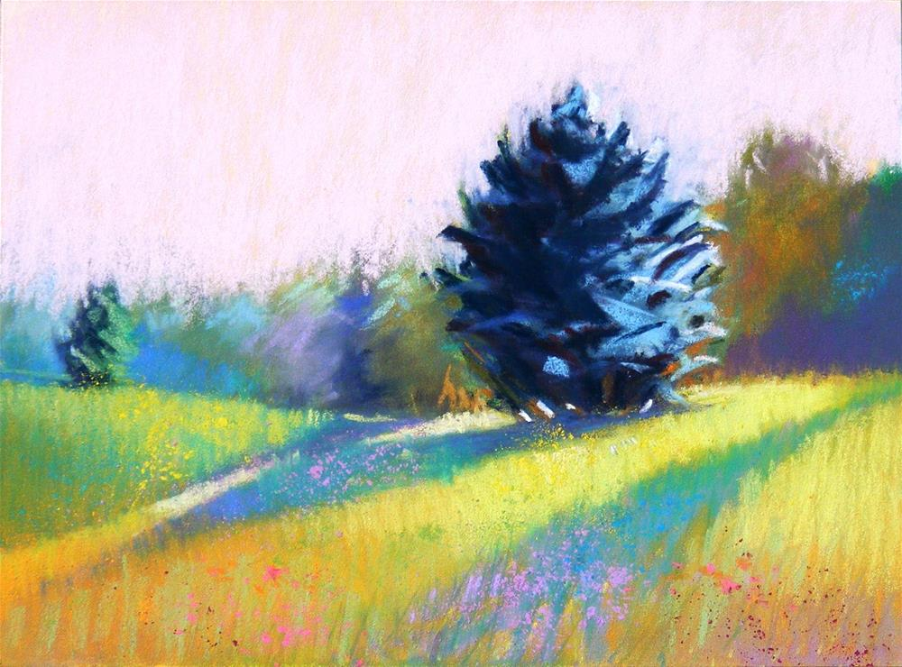 """Meadow Light"" original fine art by Celine K.  Yong"