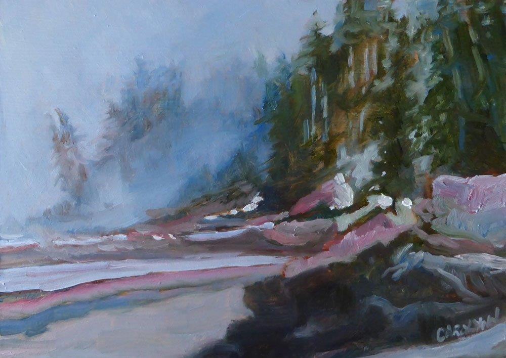 """""""Sombrio Beach"""" original fine art by Carolynn Doan"""