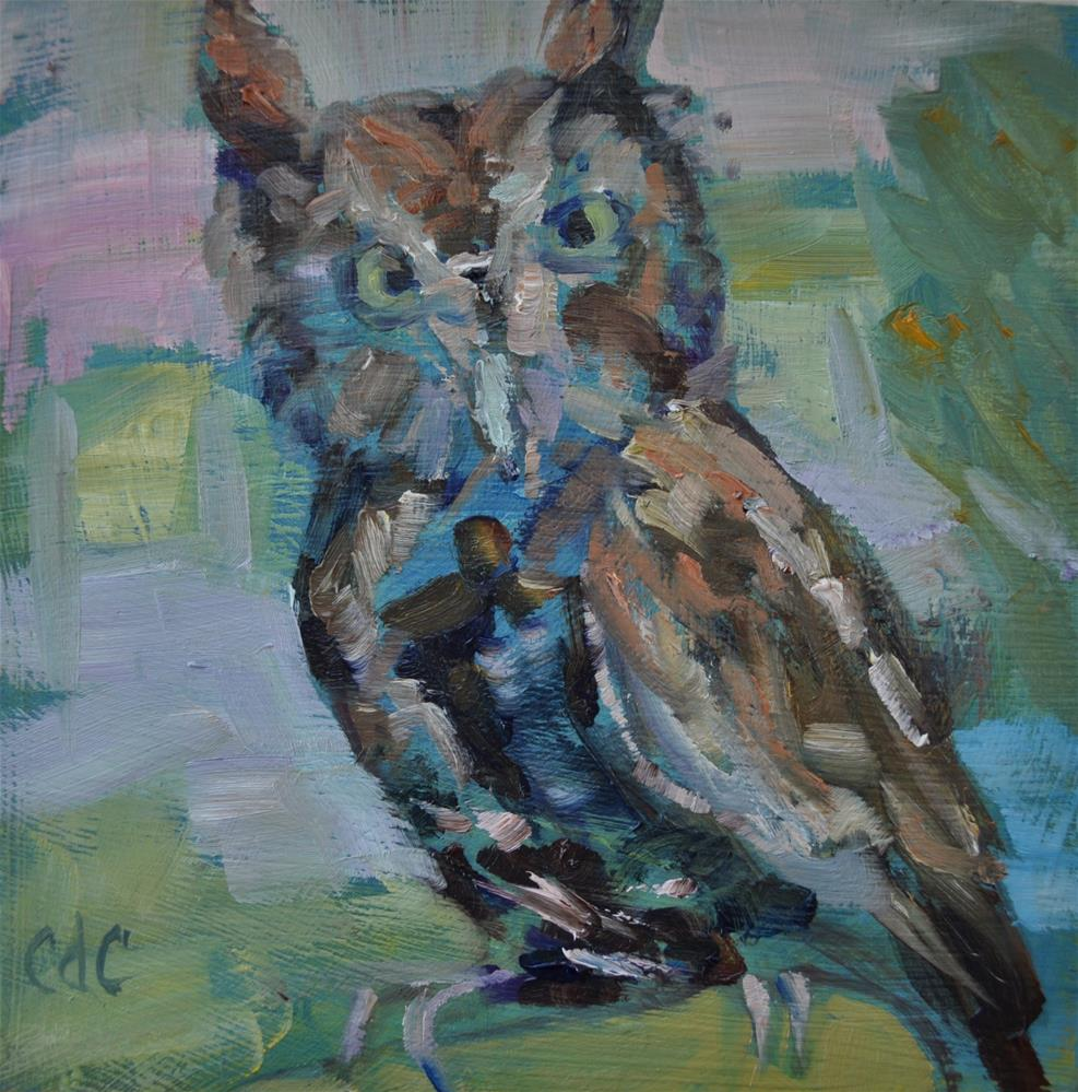 """Little Hoot"" original fine art by Catherine Crookston"