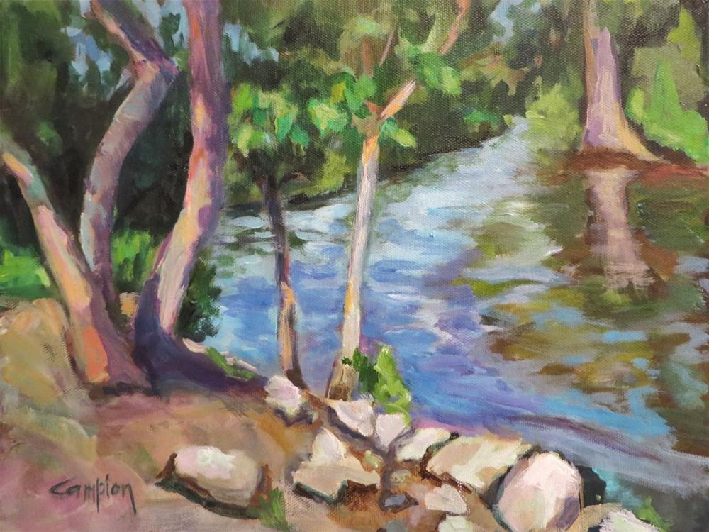 """613 Afternoon at Remingtons"" original fine art by Diane Campion"