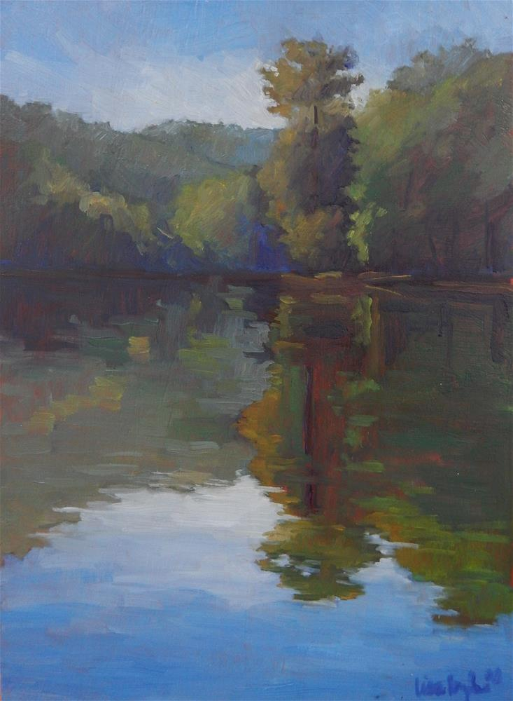 """""""Summers Reflections"""" original fine art by Lisa Kyle"""