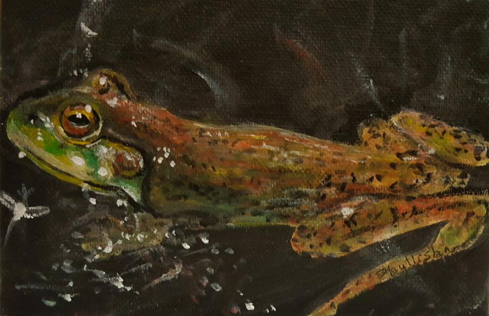 """Froggy"" original fine art by Phyllisha Hamrick"