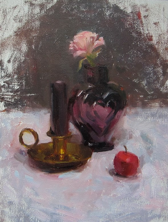 """candle holder"" original fine art by Taisia Kuklina"