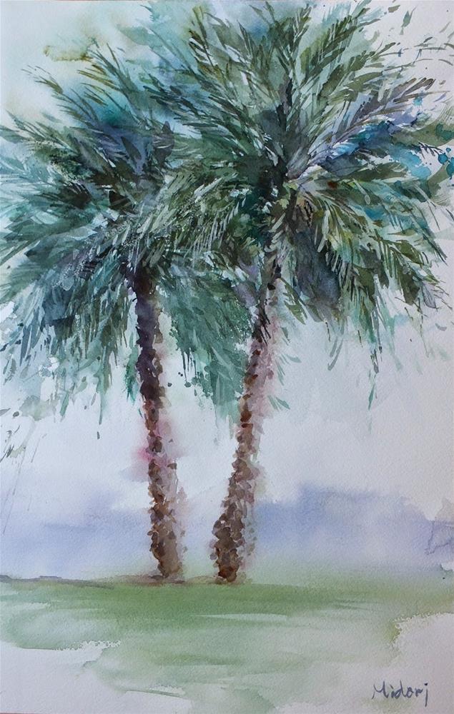 """date tree"" original fine art by Midori Yoshino"