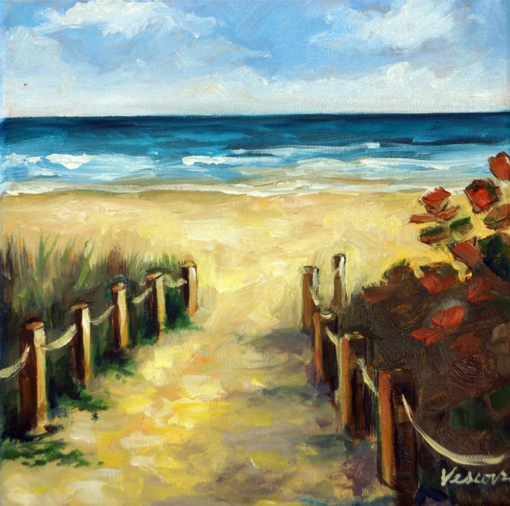 """Path to the Beach"" original fine art by Valerie Vescovi"