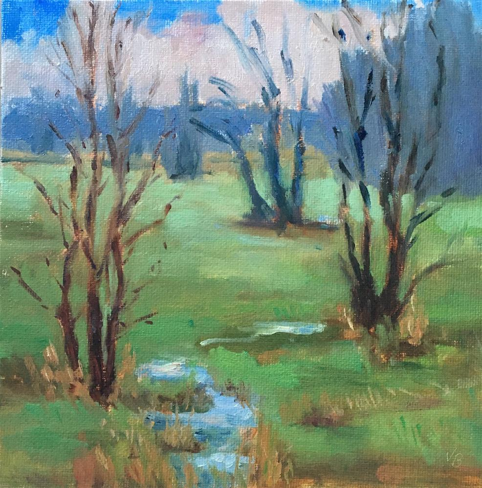 """A Day at the Wetlands"" original fine art by Victoria  Biedron"