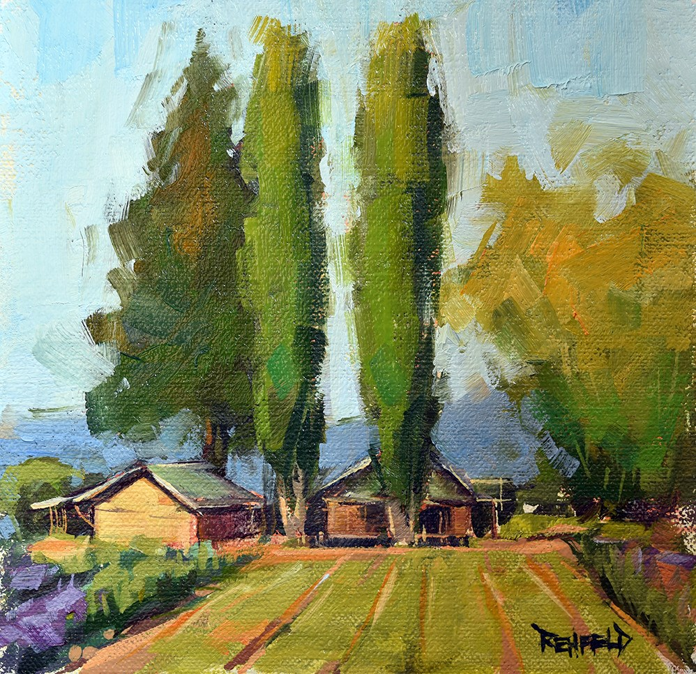 """Farmhouse"" original fine art by Cathleen Rehfeld"