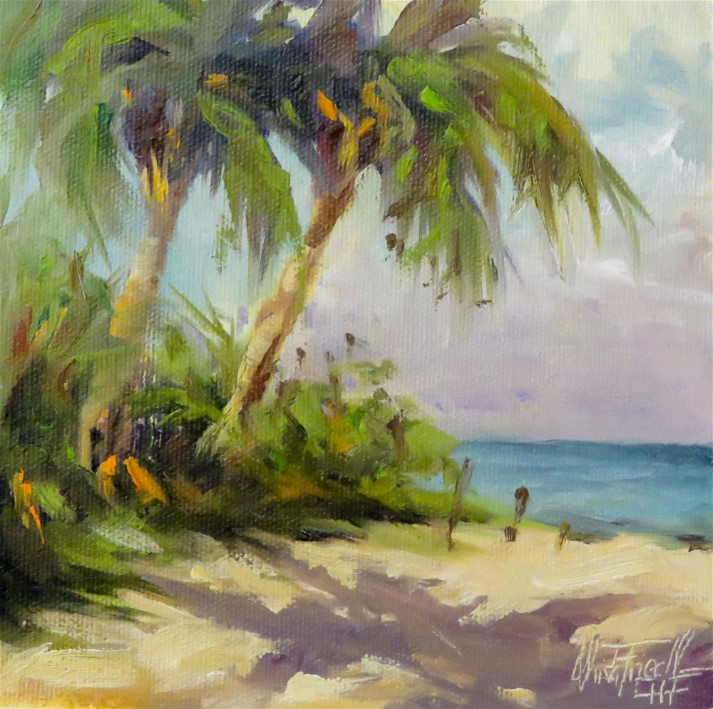 """Palmtree study"" original fine art by Christa Friedl"