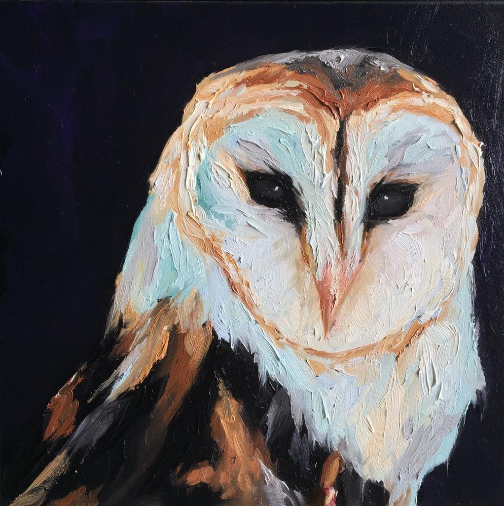 """Barn Owl"" original fine art by Hallie Kohn"