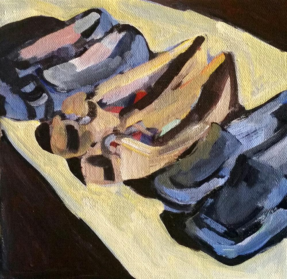 """Powder room"" original fine art by Liz Maynes"