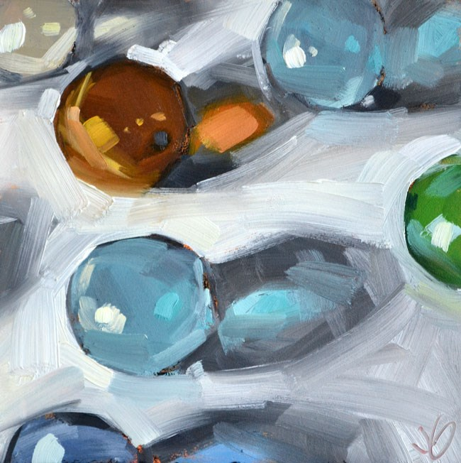 """Marbles"" original fine art by Jessica Green"