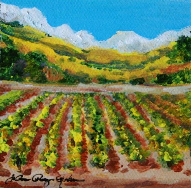 """Rows and Rows"" original fine art by JoAnne Perez Robinson"