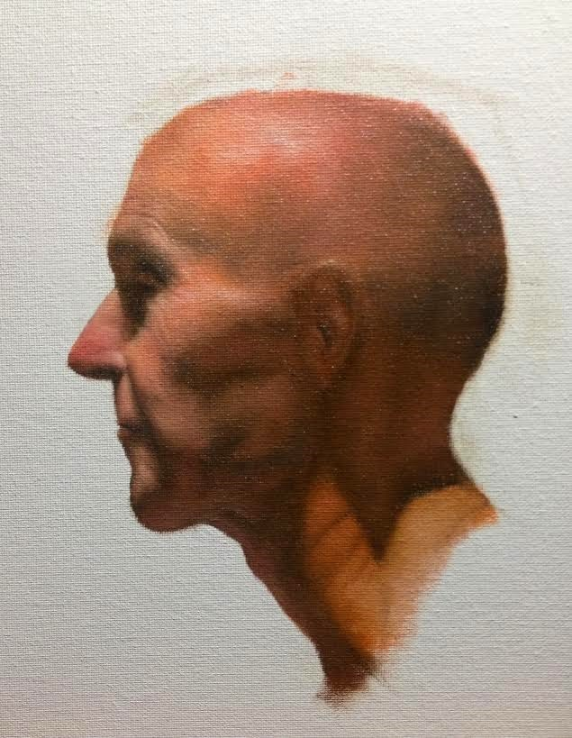"""Portrait Sketch"" original fine art by Jonathan Aller"