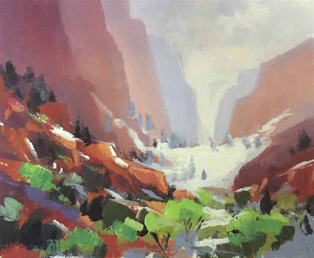 """Kolob Canyons 7"" original fine art by Mary Jabens"