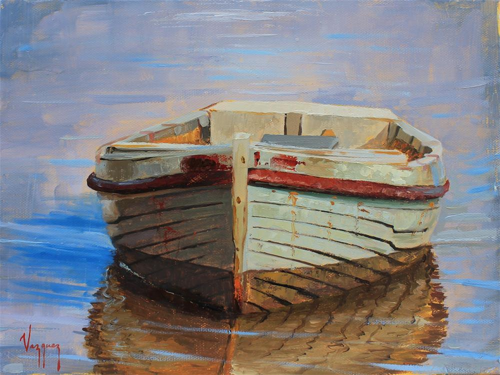 """front side of a boat "" original fine art by Marco Vazquez"