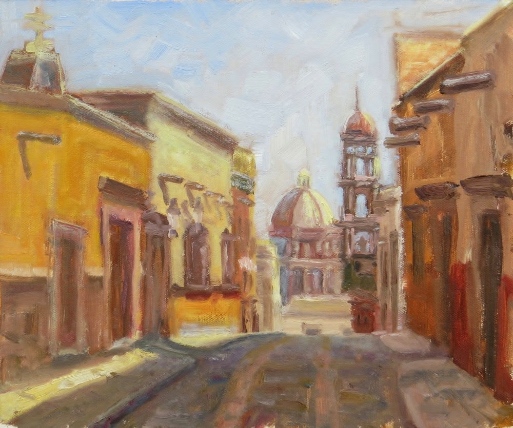 """Templo de San Francisco"" original fine art by Richard Kiehn"