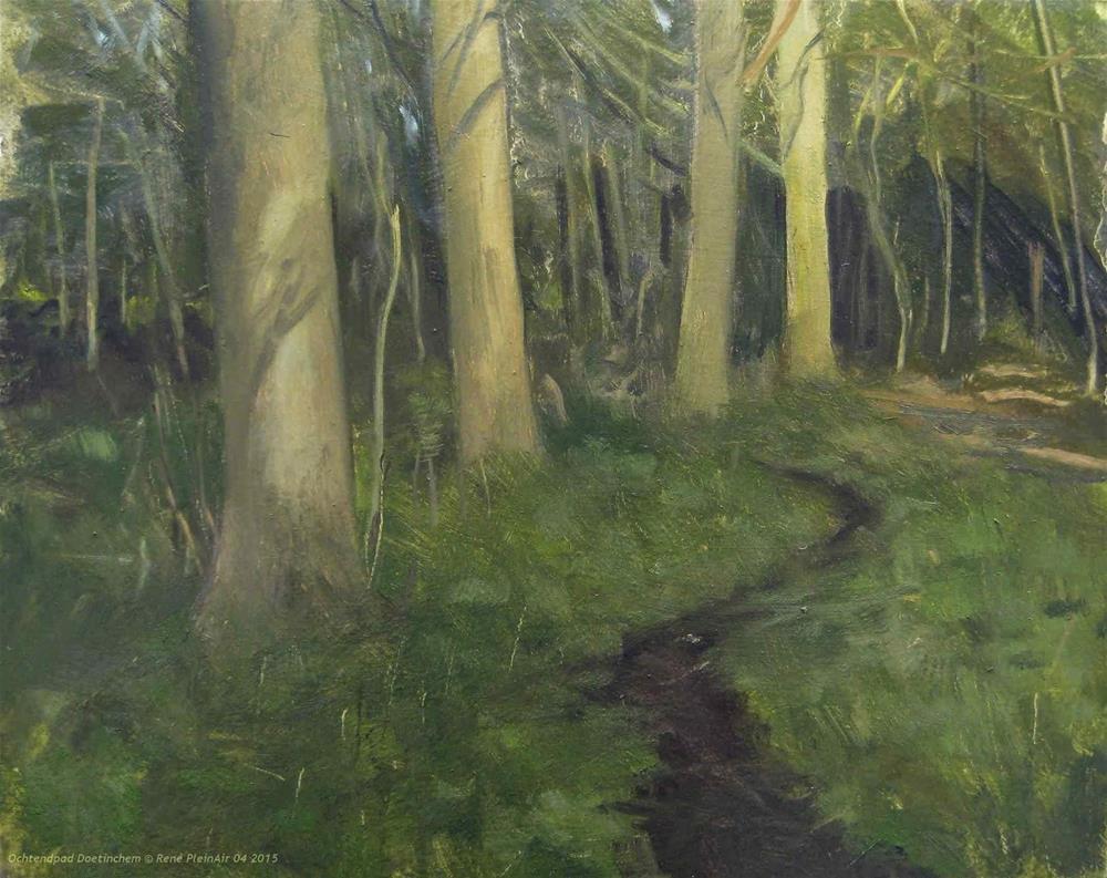 """Morning trail Doetinchem, The Netherlands"" original fine art by René PleinAir"