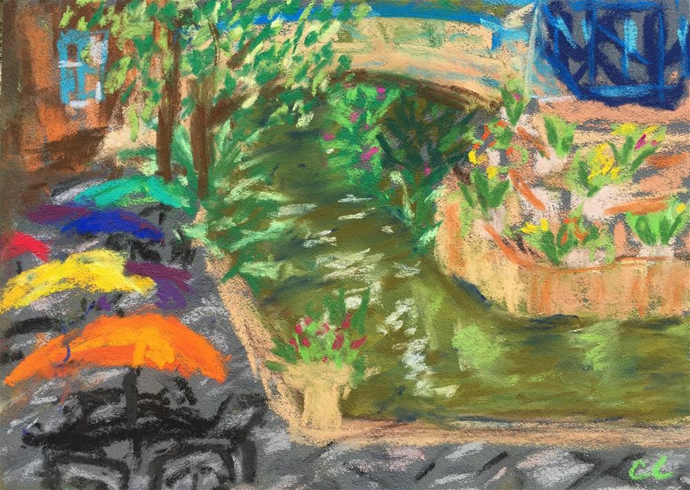 """San Antonio Riverwalk (plein air)"" original fine art by Cheree Apalona Lueck"