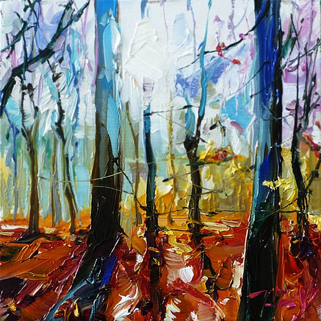 """Im Wald"" original fine art by Jurij Frey"