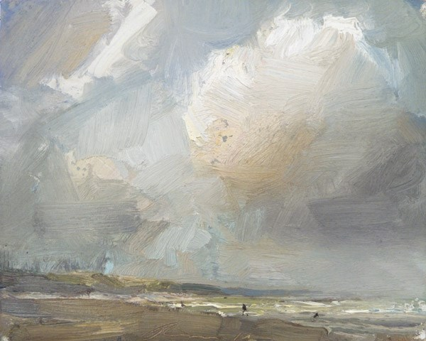 """Seascape Cloud"" original fine art by Roos Schuring"