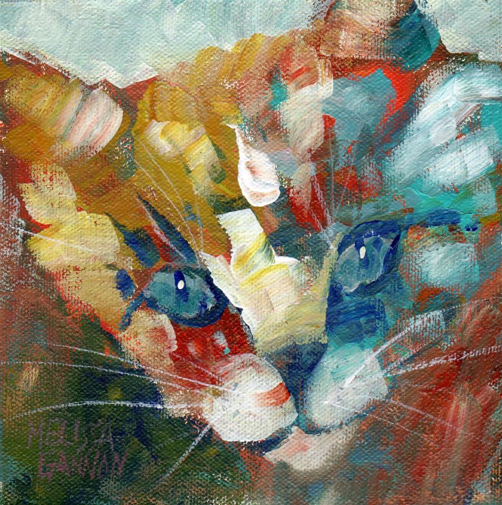 """Kitty Secrets"" original fine art by Melissa Gannon"