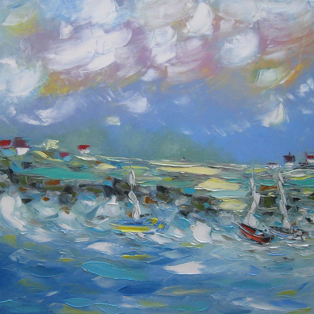 """The surf"" original fine art by Elena Lunetskaya"