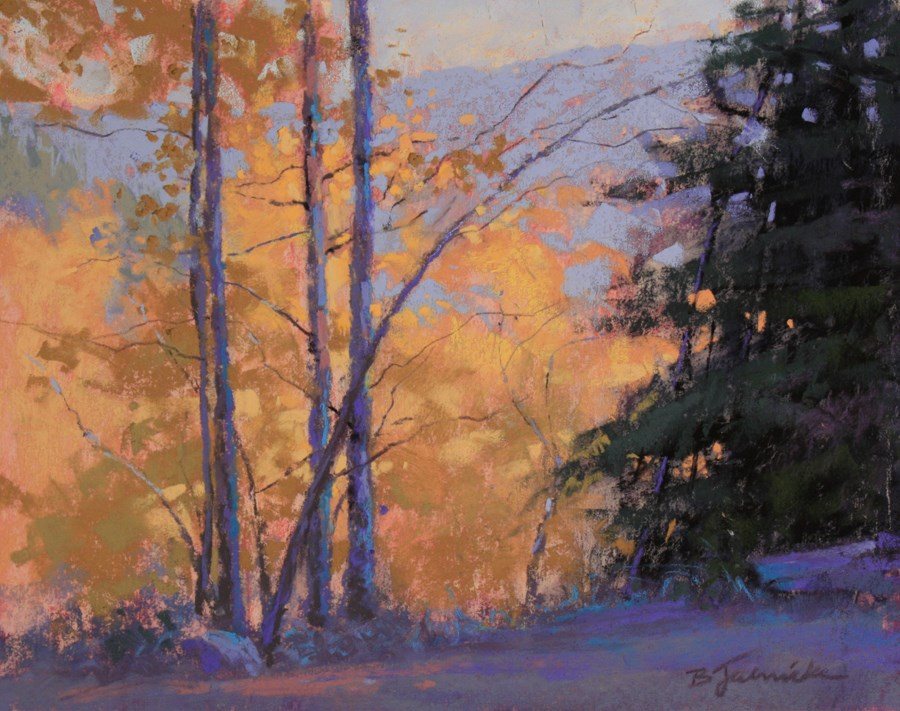 """The Aspens Below"" original fine art by Barbara Jaenicke"