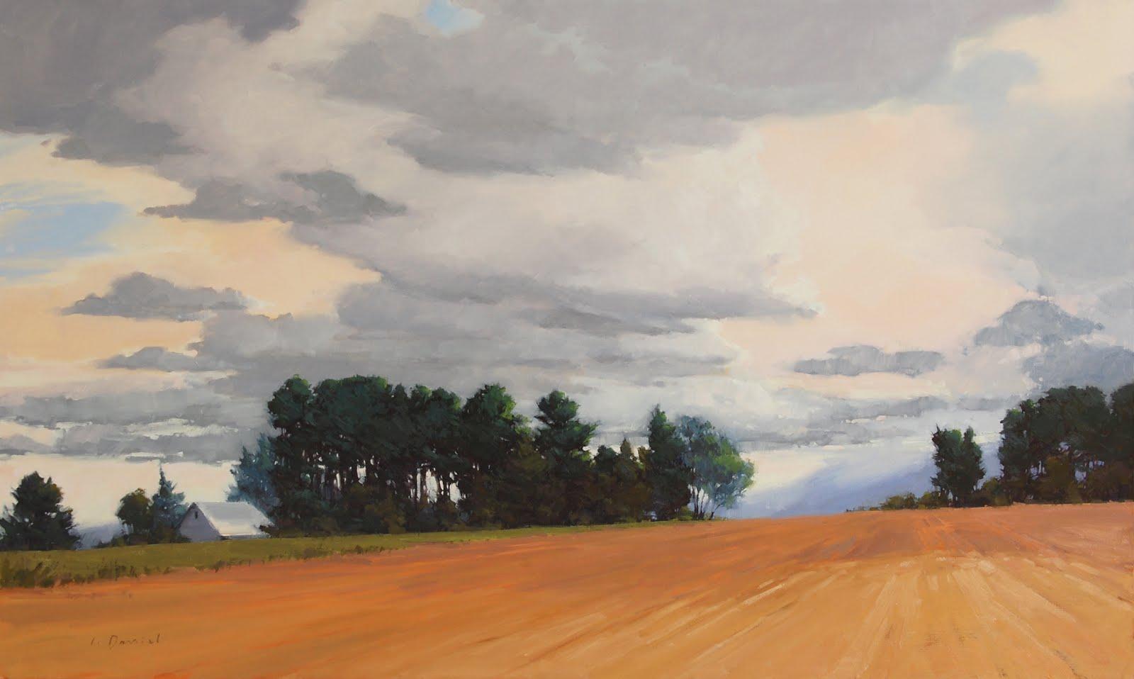 """Evolution of a big, big painting"" original fine art by Laurel Daniel"