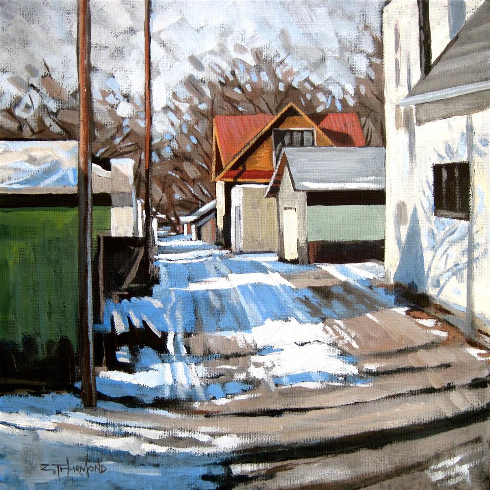 """Alley Shapes"" original fine art by Zack Thurmond"