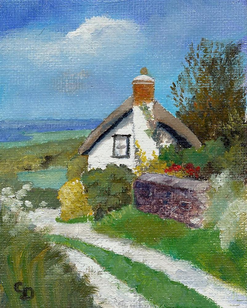 """Country Cottage"" original fine art by Christine Derrick"